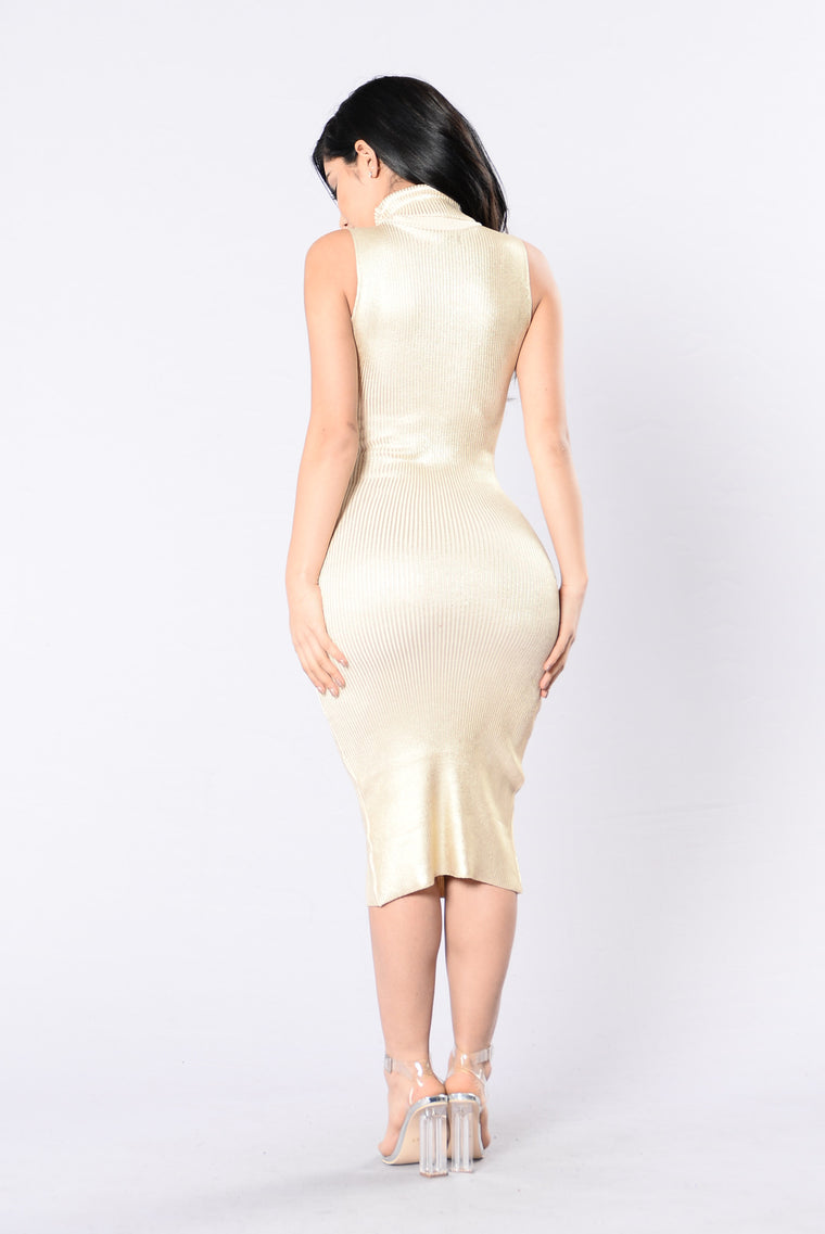 Technologic Dress - Gold