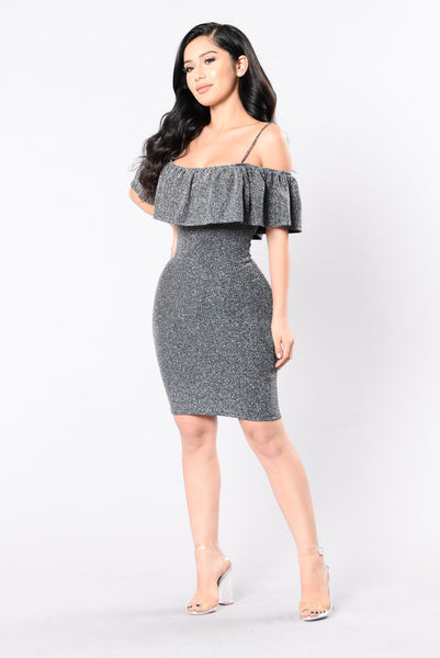 Dancing In The Moonlight Dress - Silver