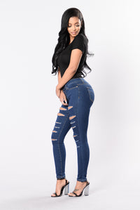 Don't Fuss Jeans - Medium Blue