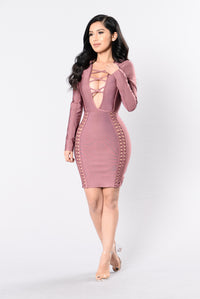 Unapologetic Bandage Dress - Red Brown