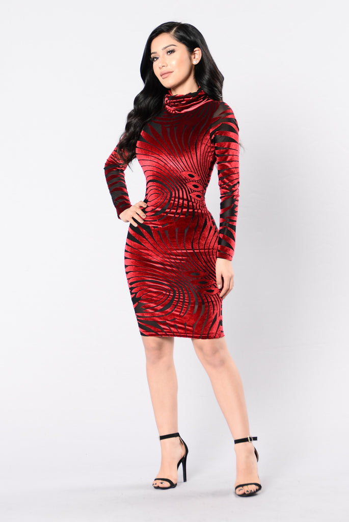 Ballroom Dress - Deep Red