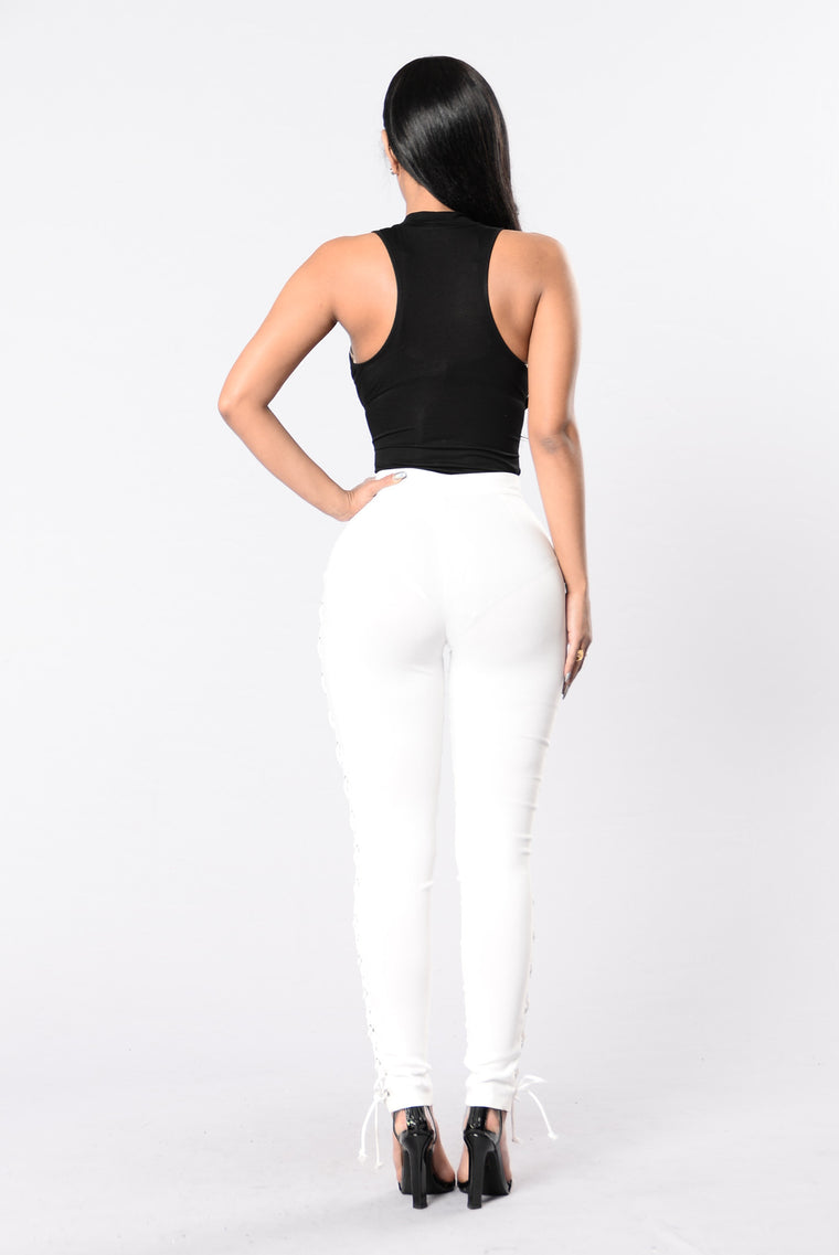 Push and Shove Pants - Ivory