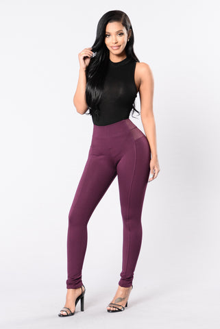 Electric Feel Pant - Wine