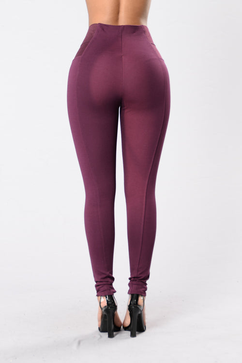 Electric Feel Pants - Wine
