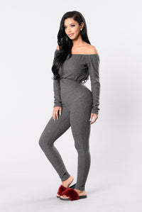 Lift Off Jumpsuit - Charcoal Angle 3