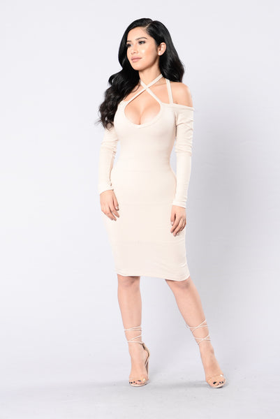 Ready To Go Dress - Taupe