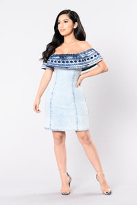 Denim Heaven Dress - Acid Wash