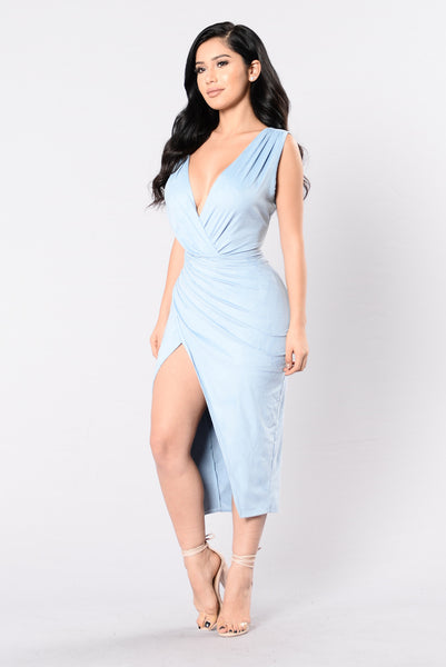 Nature Made Dress - Denim Blue
