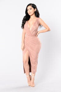 My Favorite Song Dress - Dusty Pink Angle 3