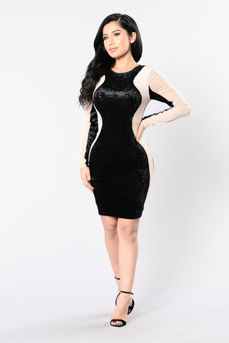 Fire We Make Dress - Black/Taupe