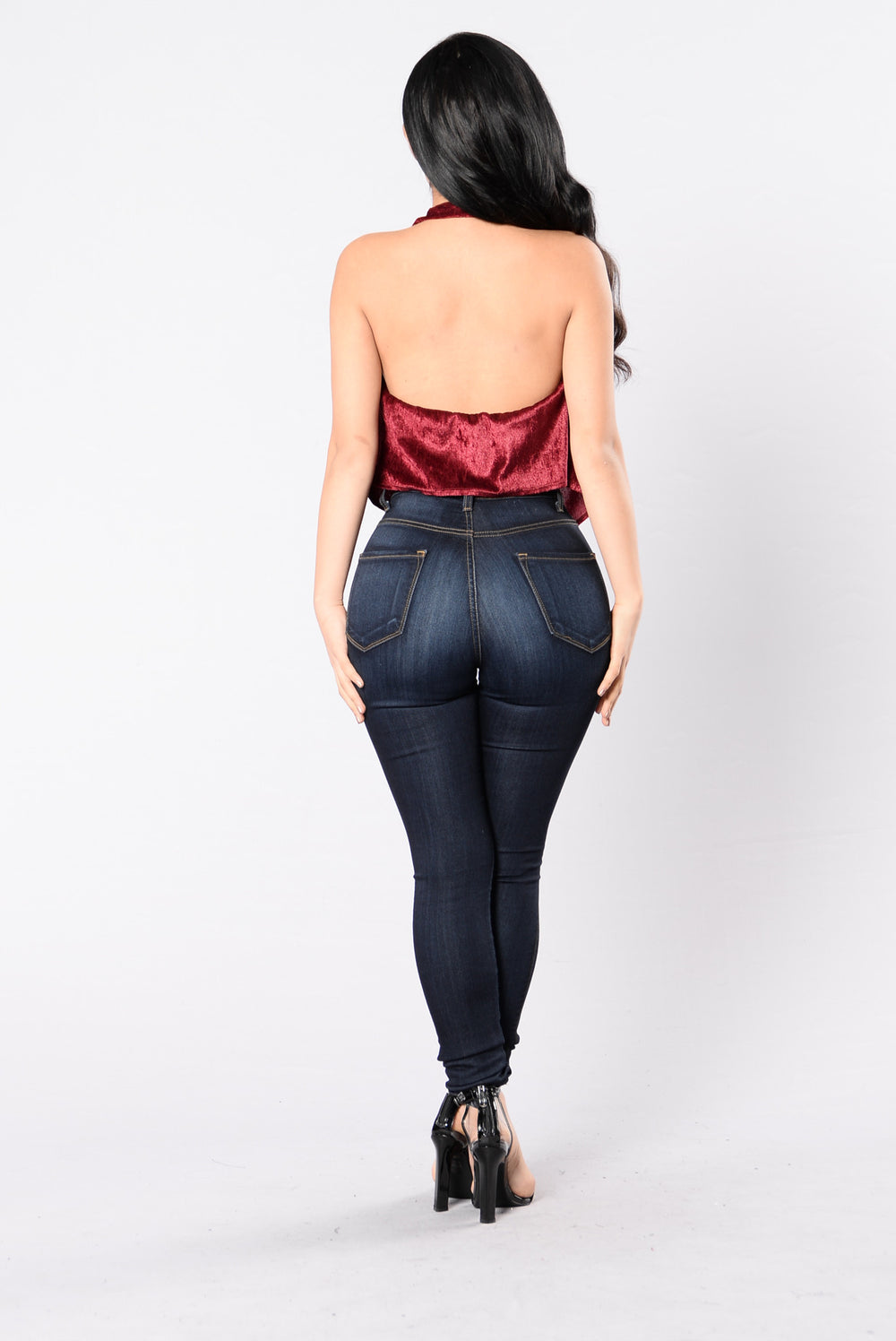 Drop, Crush, And Love It Top - Burgundy