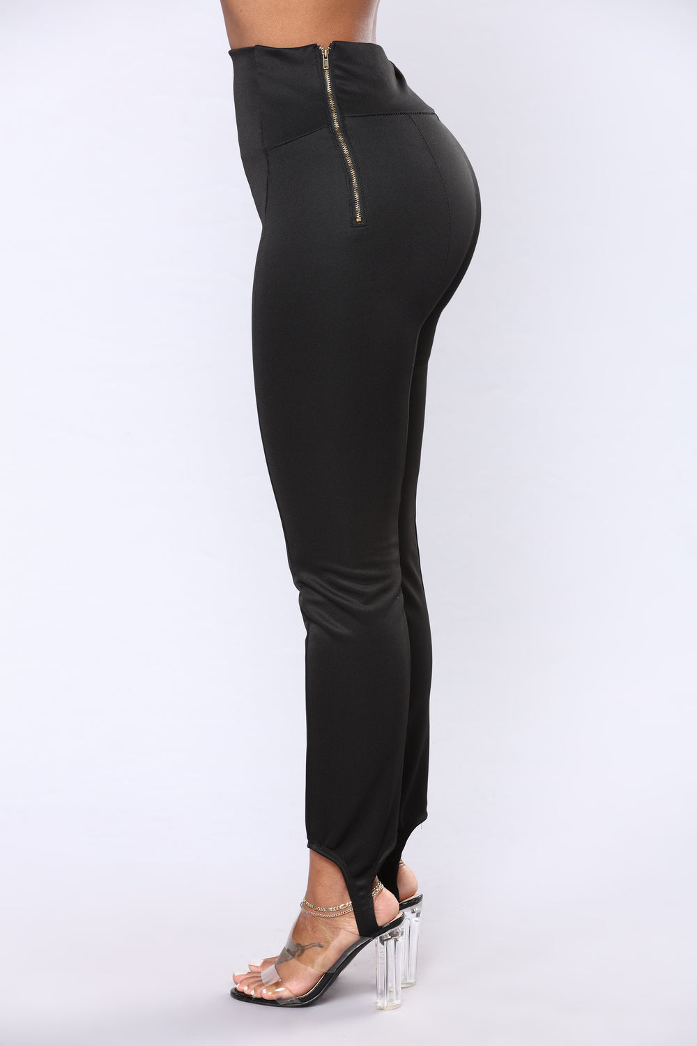 Jackie Stirrup Ponte Pants - Black
