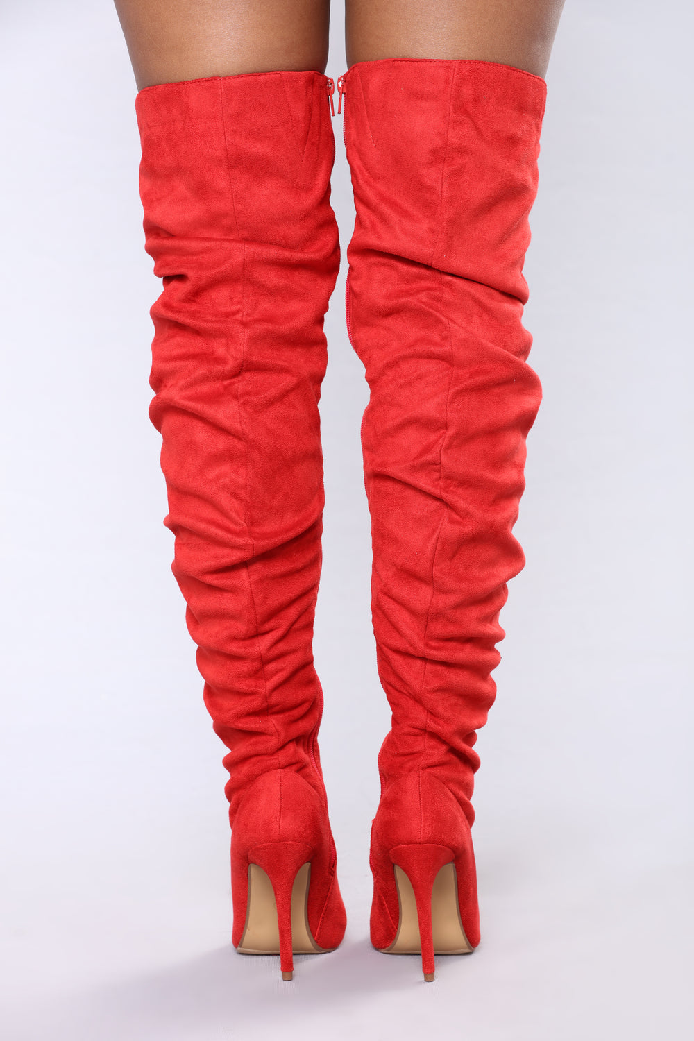 Aye Bae Over The Knee Boot - Red