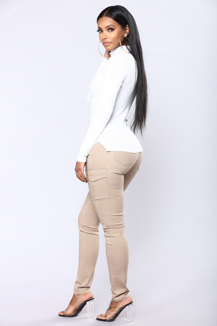 Tanisha Cargo Pants - Khaki