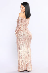 Night Jewel Dress - Rose Gold