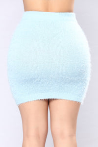 We Can Cuddle Up Fuzzy Set - Baby Blue
