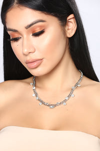 Piece Of Me Choker - Silver