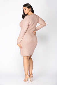Feeling Fantastic Metallic Dress - Rose Gold