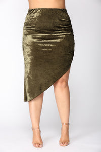 Just A Crush Skirt - Olive Angle 8