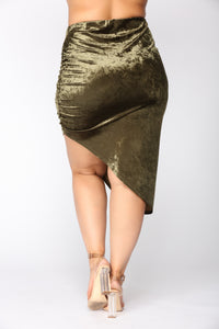 Just A Crush Skirt - Olive Angle 11