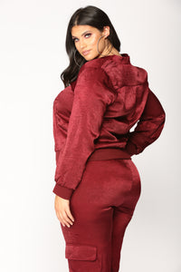 Pretty Fly Bomber Jacket - Burgundy
