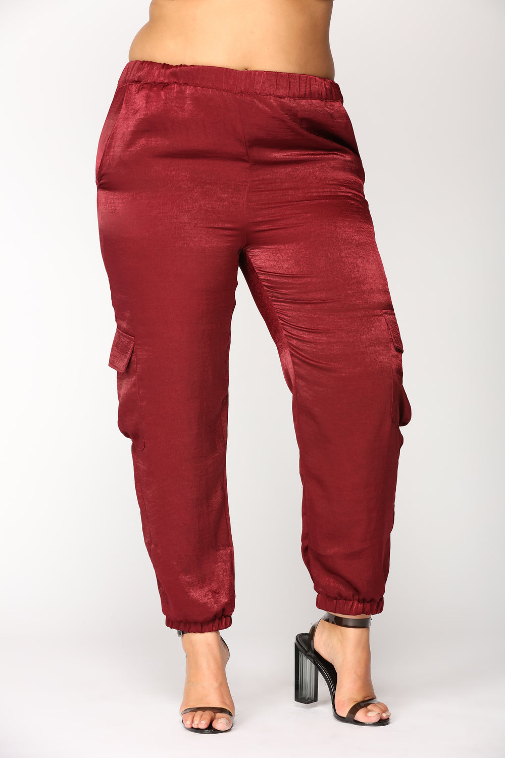 Pretty Fly Joggers - Burgundy