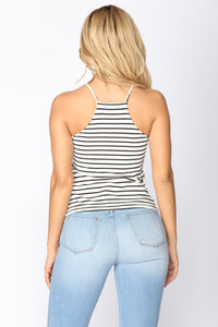Stripe On Stripe On Stripe Cami - White/Black