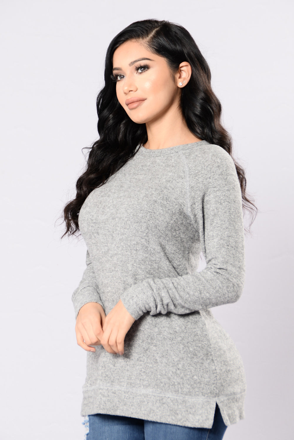 Cozie Times Top - Grey
