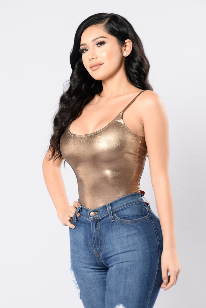 Plain And Simple Bodysuit - Rose Gold
