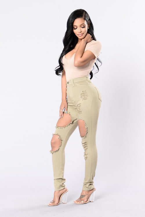 After School Special Jeans - Olive