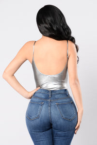 Plain And Simple Bodysuit - Silver Angle 2