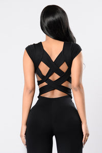 Crazy Feelings Jumpsuit - Black
