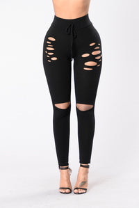 Don't Fence Me In Legging - Black (hidden) Angle 1