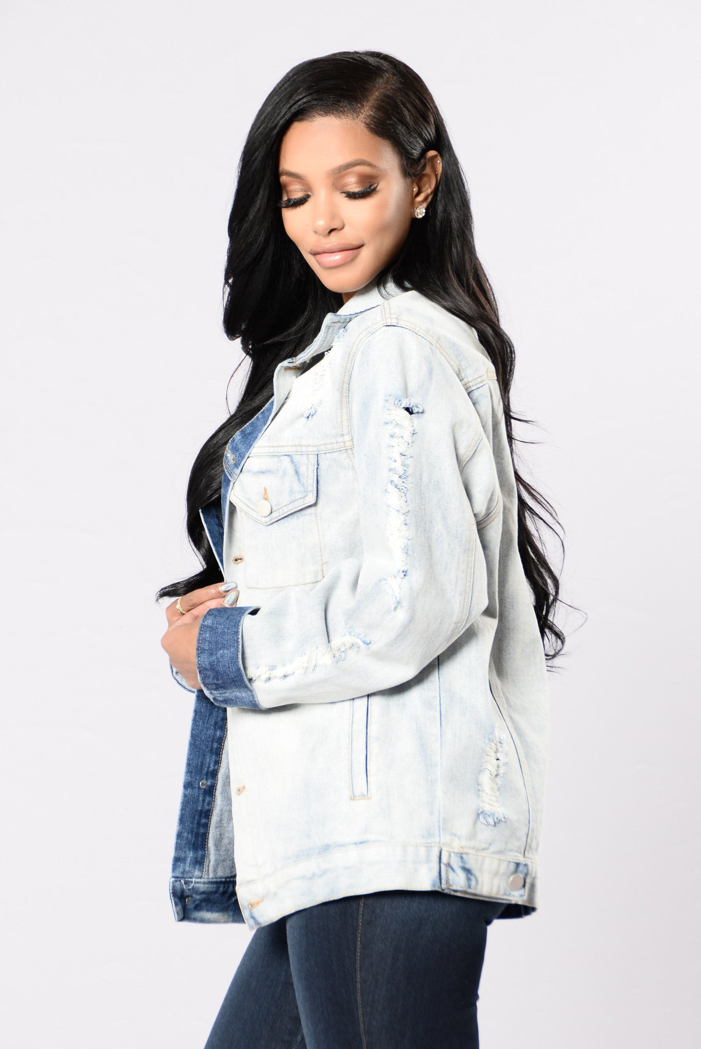Denim Venom Jacket Light Wash