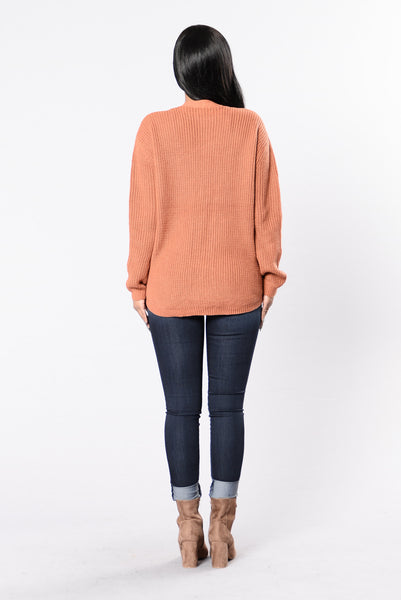 All Tied Up Sweater - Marsala