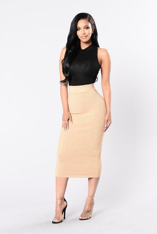 Send It On Skirt - Gold