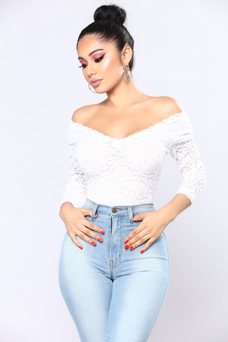 Mariana Lace Top - White