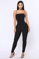 Straight Edge Jumpsuit - Black