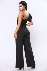 So One Sided Jumpsuit - Black