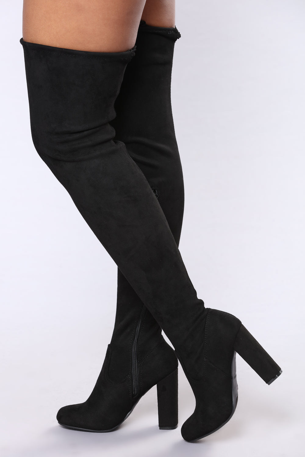 Allison Over The Knee Boot - Black