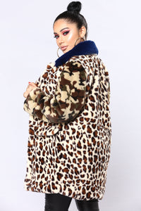 Over The Top Faux Fur Jacket - Multi