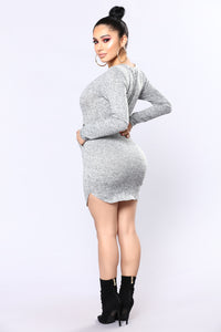 Been Months Sweater Tunic - Heather Grey
