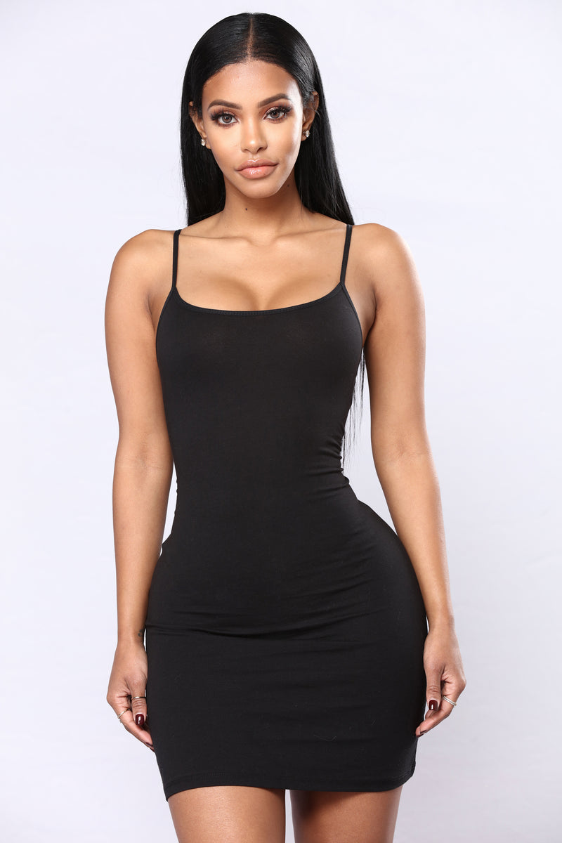 Katie Cami Slip Dress - Black