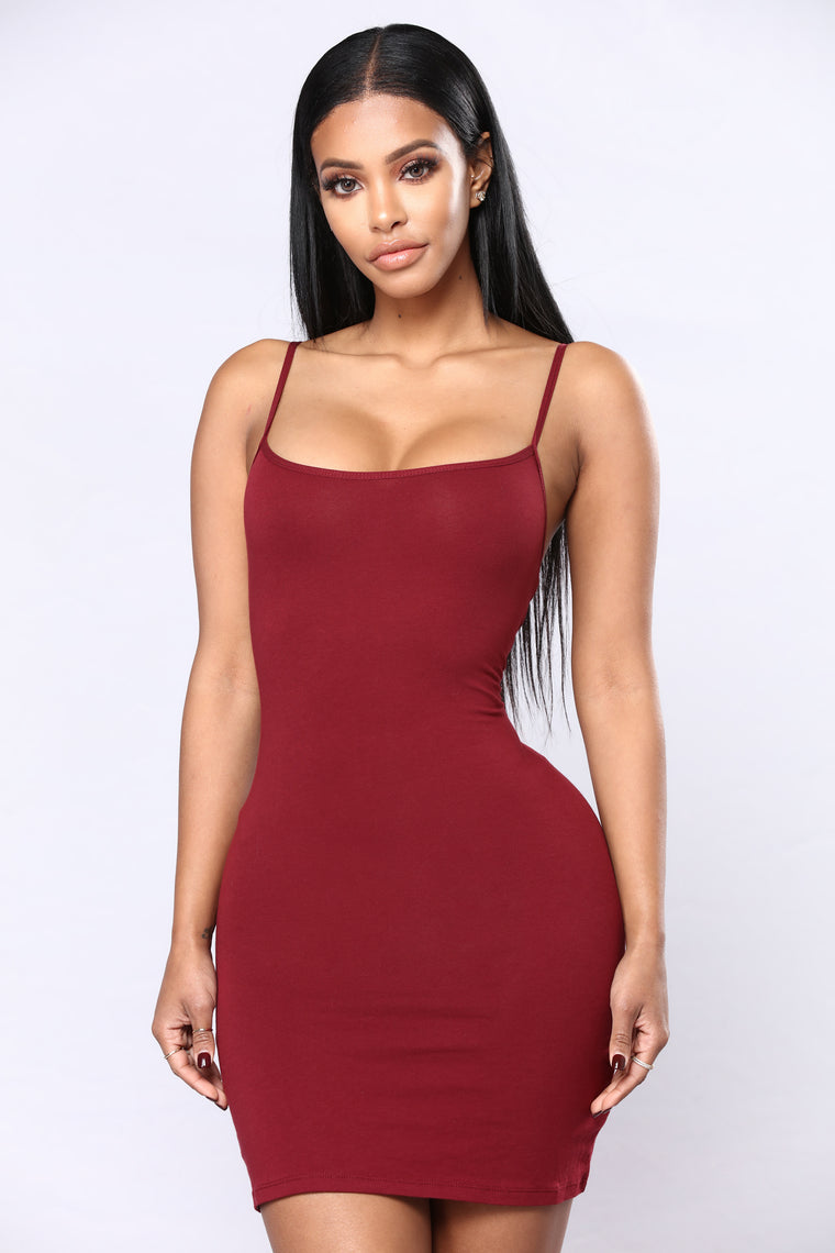 Katie Cami Slip Dress - Burgundy