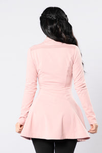 Turn It Down Dress - Mauve