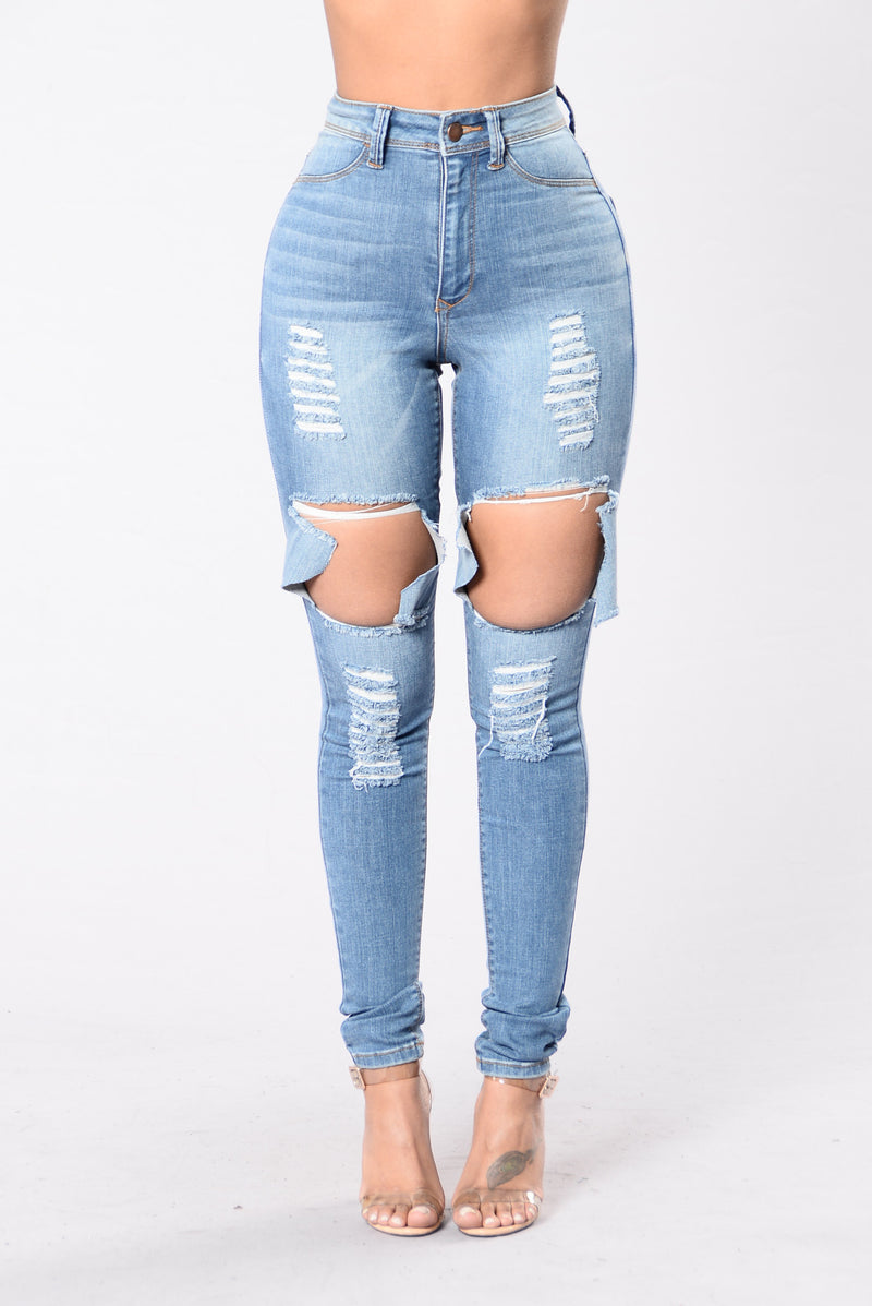 Get Out Of My Way Jeans - Medium Blue
