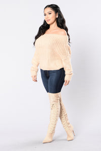 Sweet Like Coco Sweater - Khaki