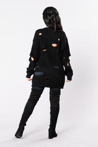 My Vision Sweater - Black Angle 5