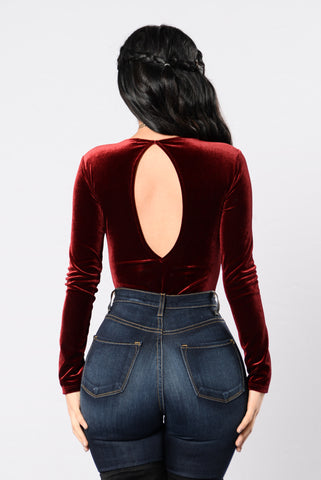 Bey Yourself Bodysuit - Burgundy