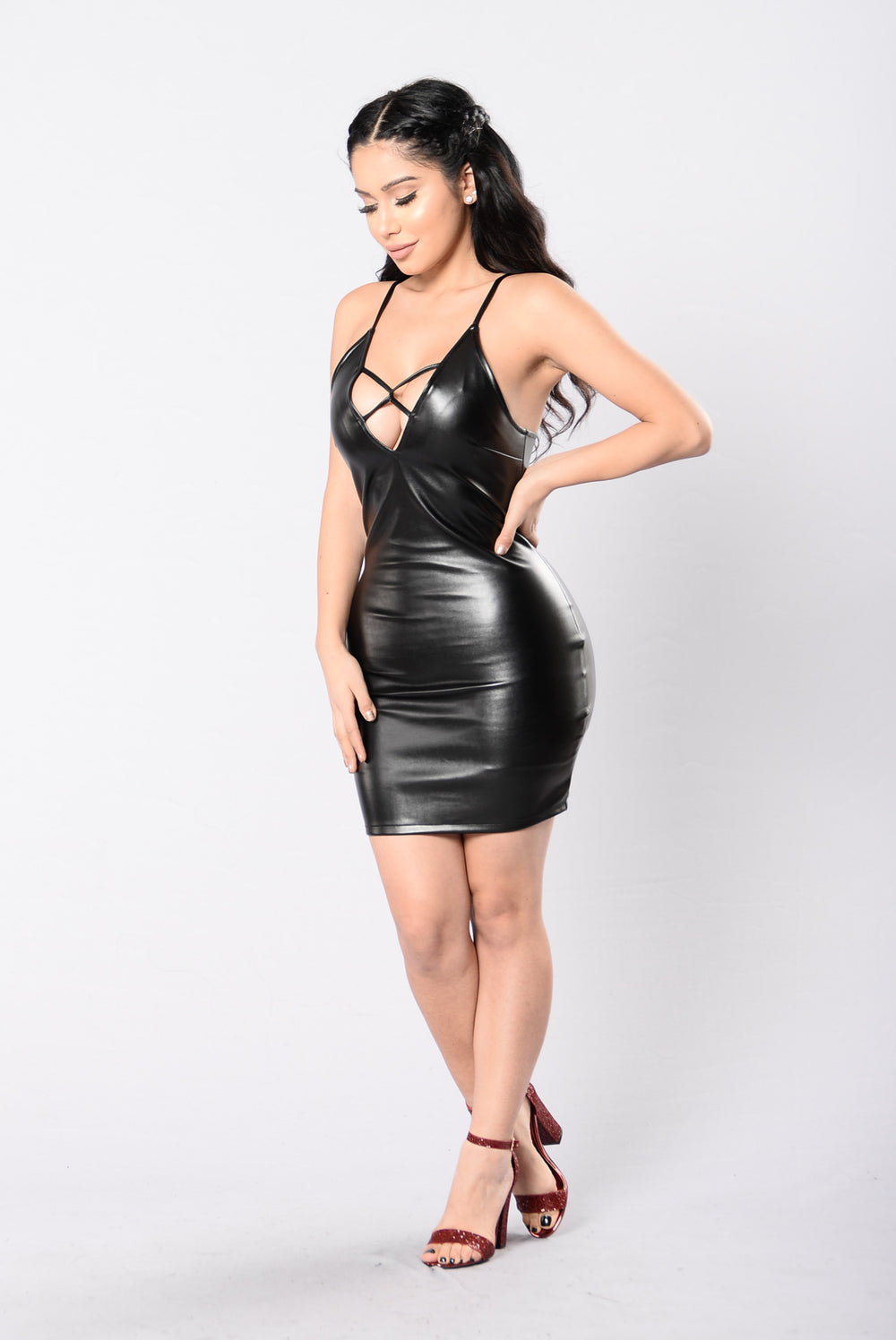 Keep It Right And Tight Dress - Black